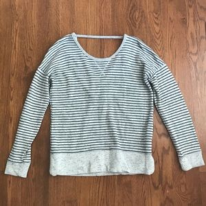 Maurices Blue/Gray Striped Top Sz XS